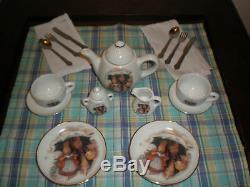 Peter Rabbit Mw Reutter Porzellan Tea Set New In Basket