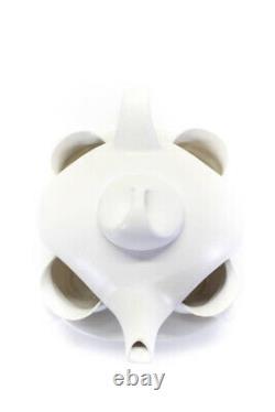 Peter Saenger Design II Nesting Teapot Service For 4 Set White