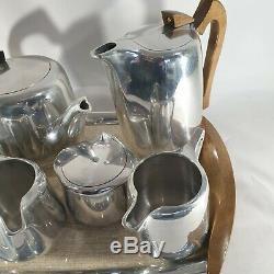Piquot Ware Tea Coffee Set Teapot Hot Water Pot 2 Sugar Bowls 2 Milk Jugs Tray