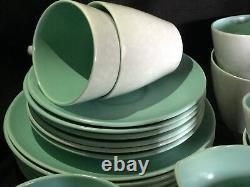 Poole Pottery Coffee & Tea Set For 6 Coffee Pot Teapot Bowl Jug Trios Twintone