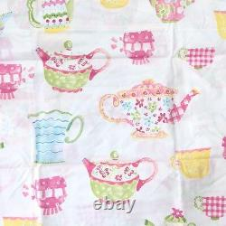Pottery barn kids Julianne quilt sham sheet set twinTeapot set Pink 5pc