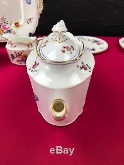 RARE Royal Crown Derby Posies 1st 1932 Tea Set for 2 Large Teapot Trios Cake Jug