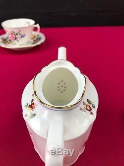 RARE Royal Crown Derby Posies 1st Quality 1932 Tea Set for 1 Small Teapot Trio