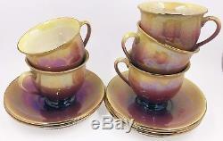 RARE Vintage Royal Winton Lusterware Tea Set Stacking Teapot & 5 Cups & Saucers
