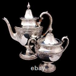 RARE Wallace Sir Christopher Sterling Silver Tea and Coffee Pot Set 4050