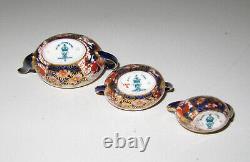 ROYAL CROWN DERBY Miniature IMARI Tea Set Teaset Teapot Sugar Bowl Creamer Mint