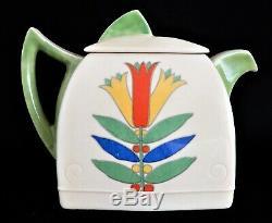 ROYAL DOULTON Art Deco Tea Set, MECCA, DUVEEN Shape REG 764873, teapot, trios