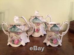 RS Prussia 3 Piece Set Teapot, Cream, Sugar