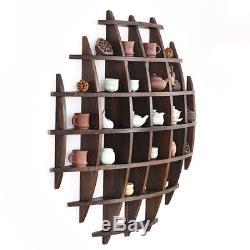 Rack onto wall for tea set pot cup tea pet show home decoration 100cm100cm wood