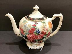 Ralph Lauren Wedgwood Hampton Floral Tea Set Teapot Creamer and Sugar Bowl