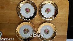 Rare Antique 24 Kt. Gold Over Porcelain STW 17pc Germany Bavaria Coffee/Tea Set