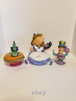 Rare Disney Alice in Wonderland Tea Set, With Teapot, Creamer, Sugar