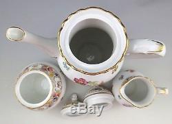 Rare Schumann Dresden Empress Teapot Tea Coffee Set Dresden Flowers 1945-1952