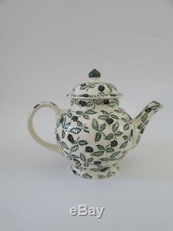 Rare VTG Emma Bridgewater Blackberry 3.25 Pint Teapot 3 Piece Set