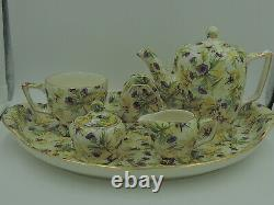 Rare Wade Chintz Thistle Breakfast Set Tea Set Teapot Beautiful