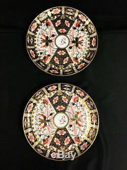 Rare c 1800 Antique Royal Crown Derby Imari Dessert Set Teapot Coffee Can Cups