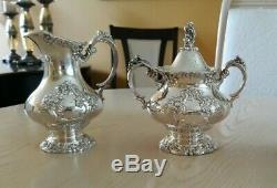 Reed & Barton KING FRANCIS Silverplate Coffee/Tea Pot Set +Water Pitcher 5 pc