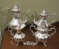 Reed & Barton Winthrop Pumpkin Silverplate Coffee & Tea pot Set