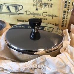 Revere Ware Designer's Group Sugar Cream SET Mid Century TRAY Art Deco + Teapot