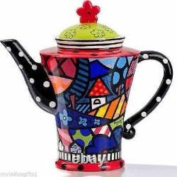 Romero Britto Full Size Ceramic Home Teapot # 339011