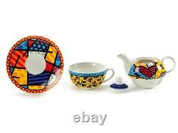 Romero Britto Teapot Tea For One Set A New Day New Gift Box