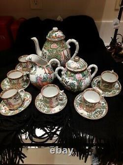 Rose Medallion Tea Set 16 pieces