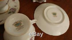 Rossetti USA Spring Violets China Tea Set Occupied Japan Cups Teapot Platters