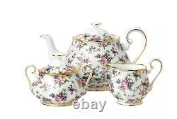 Royal Albert 100 Years 3 Piece Teapot Set (1970s English chintz)