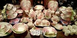 Royal Albert' Blossom Time'art Deco Tea Set And Tableware English Bone China