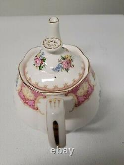 Royal Albert Bone China Lady Carlyle 2 Piece Tea Set Tea Pot & Creamer