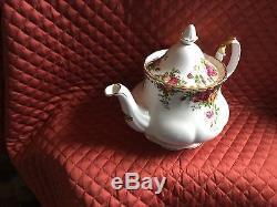 Royal Albert Bone China Lg. 6-cup Tea Pot-old Country Roses-1962-uk-new-mint-$120