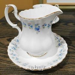 Royal Albert Bone China Memory Lane Teapot Set with Platter, Cups, Saucers, Plates