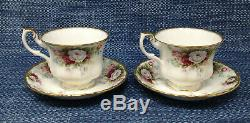 Royal Albert Celebration Complete Tea Set Teapot Sugar Creamer Cups Saucers Mint
