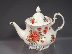 Royal Albert Centennial Rose Bone China Dinner Set for 8 Cup Saucer Tea Pot