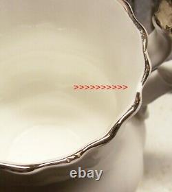 Royal Albert Chantilly Tea Set For 6 Tea Pot & Cover Cups & Saucers Cr & Sugar