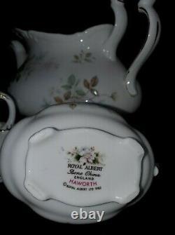 Royal Albert Haworth Tea Set Teapot Creamer Sugar Bowl 4 Cup Pot Victoria Shape