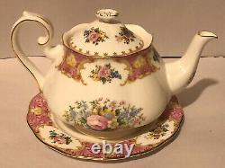 Royal Albert Lady Carlyle 17 Piece Bone China Set Coffee Pot, Teapot, Sugar Bowl+