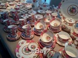 Royal Albert' Lady Carlyle' Tea Set & Tableware English Bone China