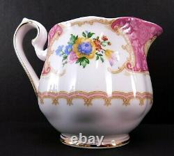 Royal Albert Lady Carlyle Tea Set Teapot Creamer and Covered Sugar Bowl