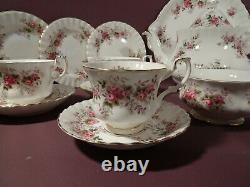 Royal Albert Lavender Rose Pattern, 21 Piece Tea Set, Includes Teapot
