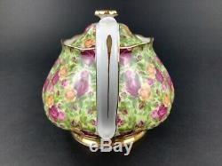 Royal Albert Old Country Roses Chintz Teapot Creamer Sugar Bowl Set England