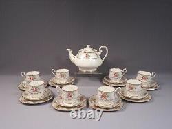 Royal Albert Petit Point Bone China Coffee Tea Set Dessert Plate Cup Saucer Pot
