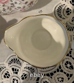 Royal Albert Rose Confetti 3-Piece Tea Set Teapot Sugar and Creamer New