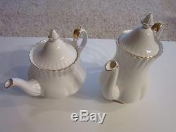 Royal Albert Val D'or White Coffee and Tea Pot Set