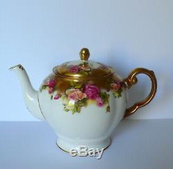 Royal Chelsea GOLDEN ROSE Tea Set / Teapot Cups & Saucers