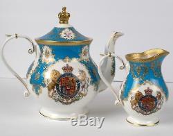 Royal Collection English Fine Bone China Tea Set Teapot Teacup Saucer Buckingham