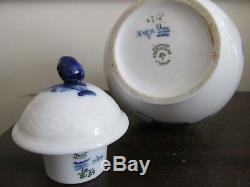 Royal Copenhagen Blue Flowers Demitasse Coffee Set Teapot 6 Cup & Saucer 10/8189