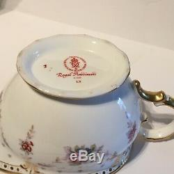 Royal Crown Derby 1st Quality Antoinette Large Teapot And Creamer Set