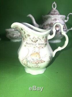 Royal Doulton BRAMBLY HEDGE Full Size TEA SERVICE SET Teapot Creamer Sugar