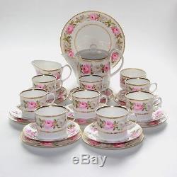 Royal Worcester Royal Garden, Tea Set, 8 X Trios + Teapot, Milk, Sugar
